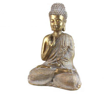 Bouddha blanche et doré
