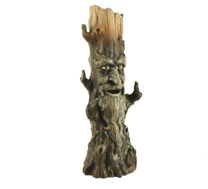 Porte-encens tronc d'arbre